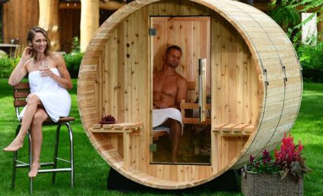 Zoom sauna tonneau extérieur Ohio