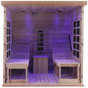 vue interieure sauna infrarouge caprera
